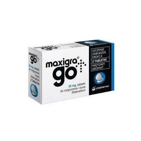 Maxigra go 25 mg x 2 tabl do żucia