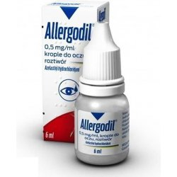 Allergodil krople do oczu 0,5 mg/1ml 6ml