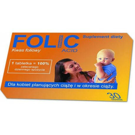 Folic acid 30 tabletek