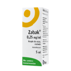 Zabak krople do oczu 0,25 mg/ml 5ml