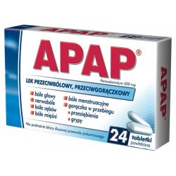 Apap 500mg 24 tableteki