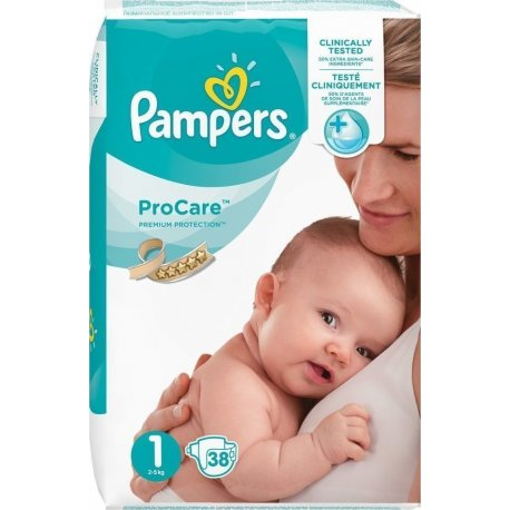 Pampers ProCare Rozmiar 1 38 Pieluch