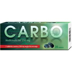 Carbo Medicinalis MF 250mg 20 tabletek